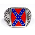 Confederate Flag Silver Ring ( Rebel Ring)
