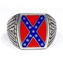 Cеребряное кольцо с изображением флага Конфедерации