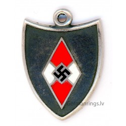 German WW2 HJ silver pendant