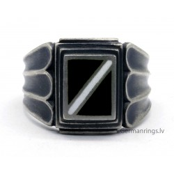 Patriotic Latvian enameled silver ring