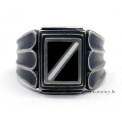 Patriotic Latvian enameled silver ring