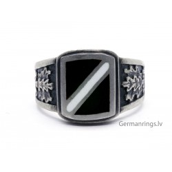 LATVIAN Silver Glass Enameled Ring
