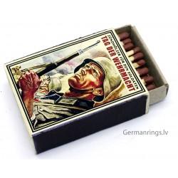 German Wehrmacht Matchbox Full Unused.