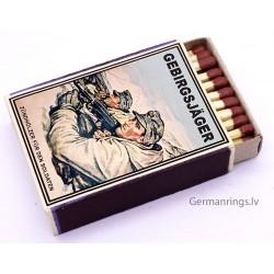 Vintage Full German Propaganda gebirgsjäger matchbox