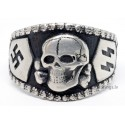 German Nazi SS Sterling silver ring