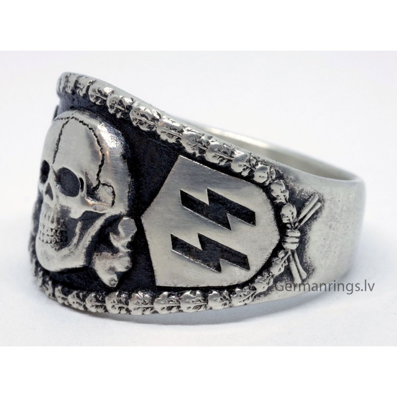 German Nazi SS Sterling silver ring for sale
