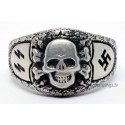 German Nazi SS Sterling silver ring.