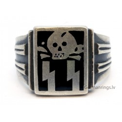 WWII Silver Death Head ring