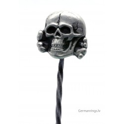 GERMAN SKULL SILVER STICKPIN